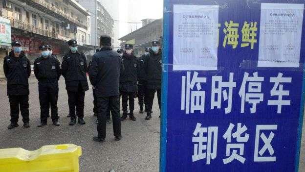 此次肺炎主要爆發地集中在湖北武漢。(BBC中文網/AFP)
