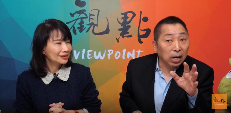 20200116-唐湘龍在《正經龍鳳配》節目中爆料,熟識的教授友人在選後將寶貝女兒趕出家門。(擷取自觀點YouTube頻道)
