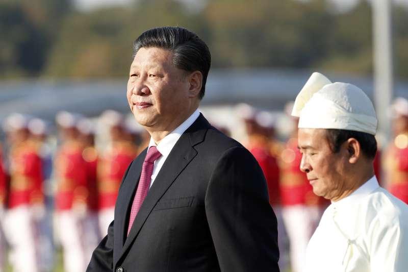 2020年1月17日,中國國家主席習近平抵達緬甸,進行為期兩天的訪問。(AP)