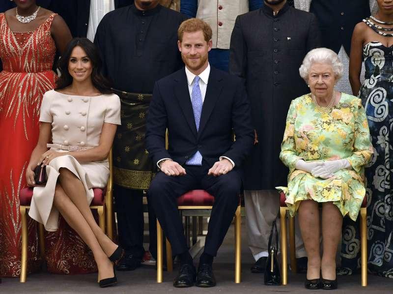 英國哈利王子(Prince Harry)與妻子梅根(Meghan Markle)未來將從王室「淡出」,追求獨立生活。(AP)