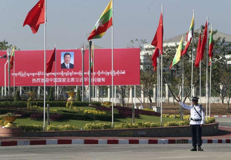 中國國家主席習近平對緬甸進行國是訪問(AP)