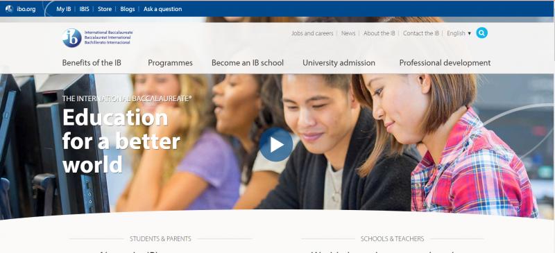 事實上IB組織是個非營利機構,甚至沒有所謂的總部,而且在沒有總部的情況下,在157個國家快速發展,目前已超過5千所學校採用。圖為IB官網。(截取自International Baccalaureate官網)