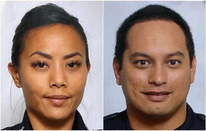 兩名殉職的資深檀香山員警。(Ap)