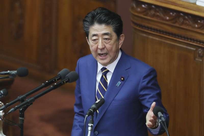 2020年1月20日,日本首相安倍晉三在國會進行施政演說,再次感謝台灣對311震災伸出援手(AP)
