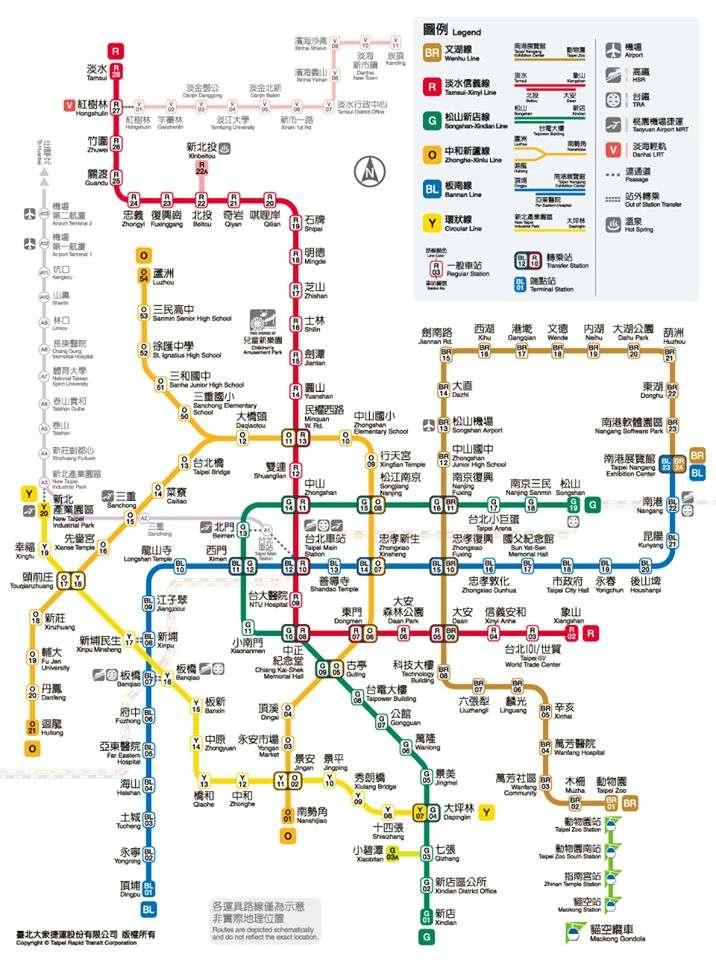 環狀線通車後,新版台北捷運路線圖也正式推出(圖片來源:台北捷運粉絲團)