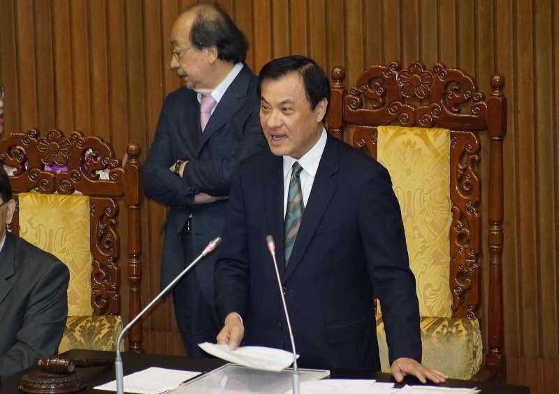 20200120-立法院長蘇嘉全20日於院會發表感言。(盧逸峰攝)