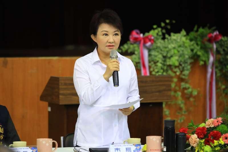 臺中市府市政會議中,盧秀燕對於中央環保署通過中火新增2部機發電機組,感到遺憾,強調為了中部人的健康和環境。(圖/臺中市政府提供)