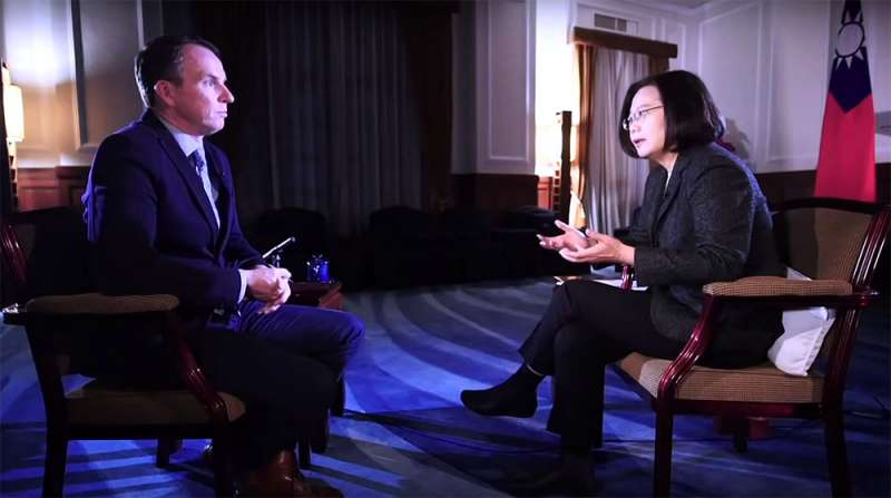 蔡英文總統接受BBC專訪,一席「不能排除戰爭的可能性」嚇壞台股。(翻攝自BBC網站)