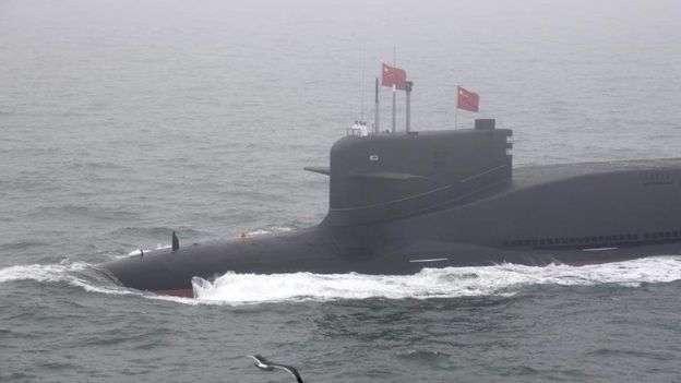 中國的新型核潛艇:中國大力發展遠洋海軍令印度倍感壓力。(BB中文網/Xinhua)