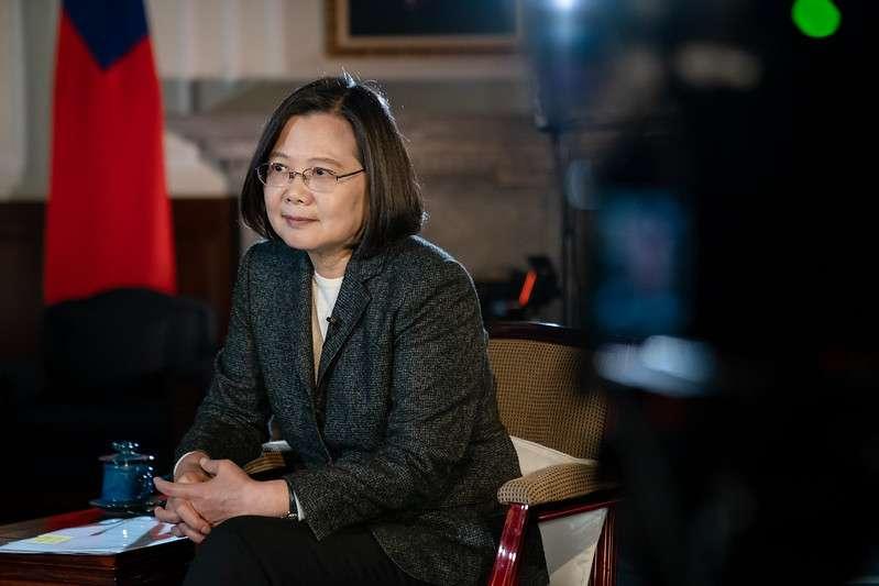 蔡英文總統連任勝選後接受BBC訪問時說,「中國需要準備好面對現實」,「任何時候都無法排除戰爭的可能性」。(總統府)