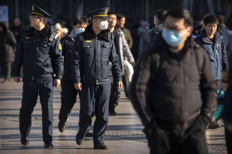 北京,武漢肺炎。(AP)