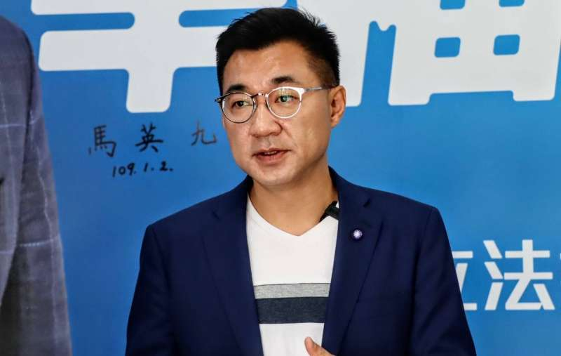 20200122-國民黨立委江啟臣22日上午在豐原服務處受訪。(江啟臣辦公室提供)