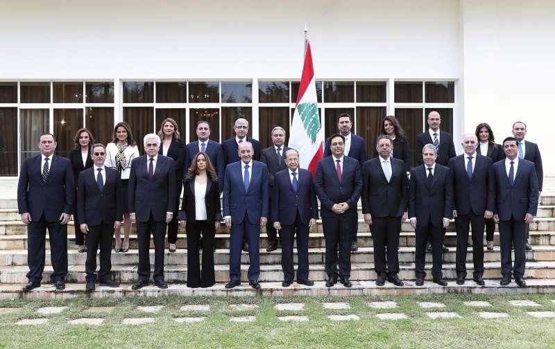 黎巴嫩2020年1月21日宣布成立新政府,多位女性擔任閣員。(AP)