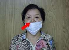 外科口罩常見錯誤戴法(圖片來源:台大醫院健康電子報)