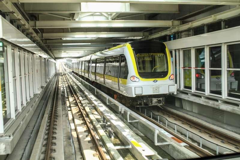 20200131-新北環狀線捷運31日通車。(蔡親傑攝)
