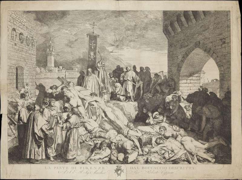 圖/黑死病曾在世界各地爆發,極高的死亡率令人聞風喪膽。圖/維基百科
