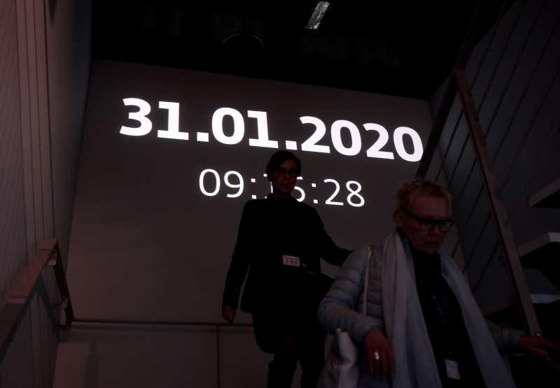 英國脫歐。英國於2020年1月31日晚間23點01分正式脫離歐盟,進入為期11個月的談判過渡期。(AP)