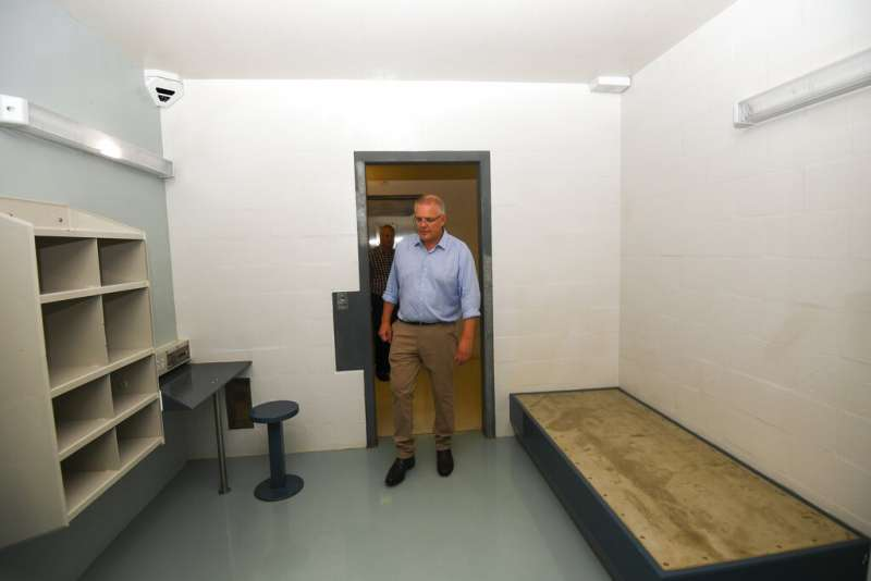 澳洲總理莫里森到聖誕島巡視。(AP)