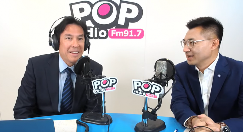 20200203-江啟臣3日上午接受資深媒體人黃暐瀚《POP撞新聞》專訪。(取自《POP撞新聞》YouTube)