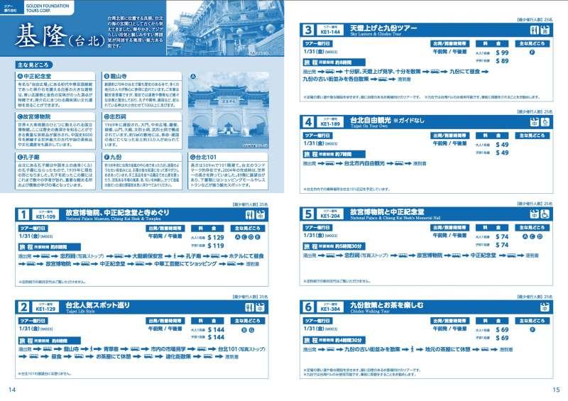 「鑽石公主號」的行程簡介中,對基隆(台北)的推薦行程包括故宮、中正紀念堂、迪化街、忠烈祠、保安宮、孔廟、101、中華工藝館等等。 1月31日下船的旅客,很有可能根據這份簡介按圖索驥。