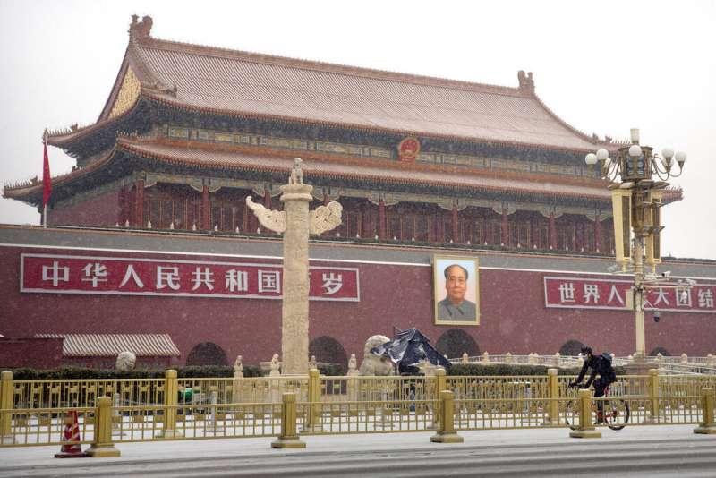北京的天安門廣場。(美聯社)