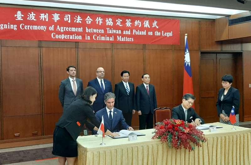 台灣成功與歐盟會員國波蘭簽下內容廣泛的刑事司法協定。(法務部提供)