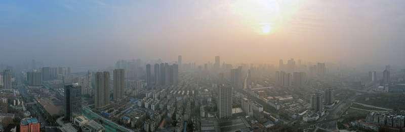 2020年武漢肺炎疫情,2月3日拍攝的武漢市(新華社)