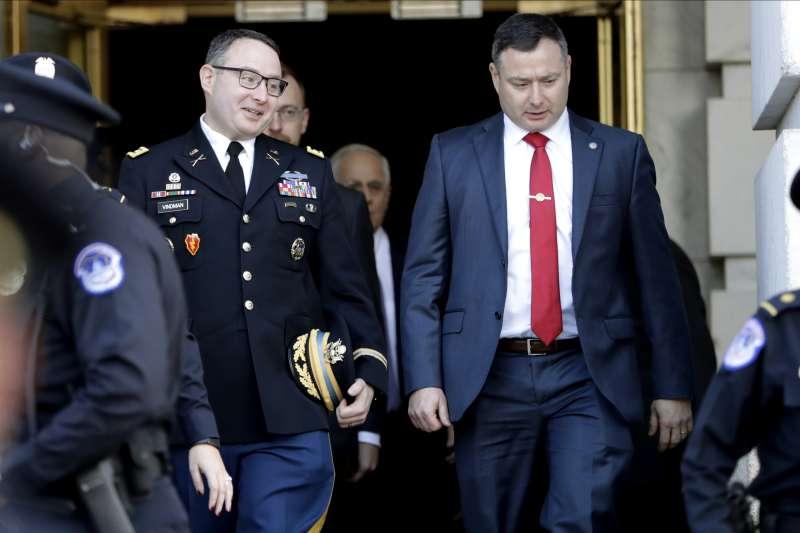 前美國白宮國安會歐洲事務主任文德曼去年出席川普彈劾聽證會,指稱川普行為確有不妥,2月7日遭川普開除。(AP)