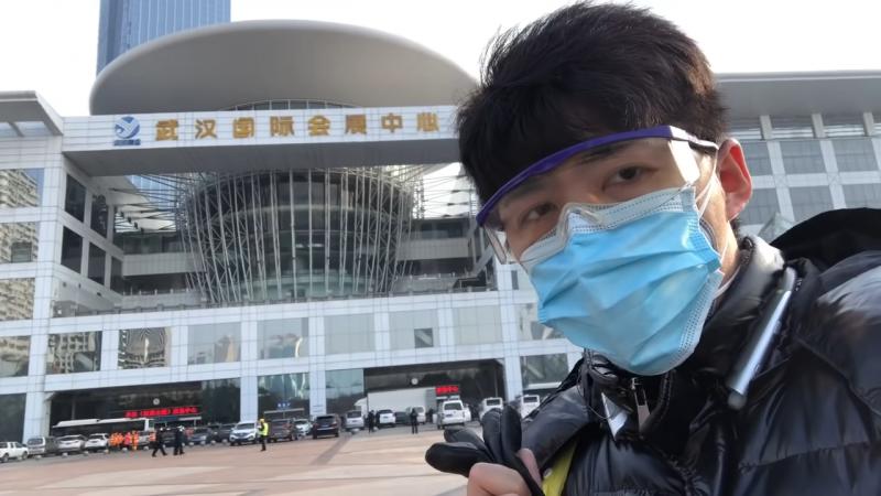中國公民記者陳秋實。(節取自You Tube)