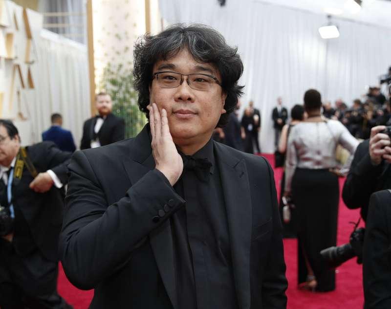 第92屆奧斯卡紅毯,南韓電影《寄生上流》導演奉俊昊(AP)