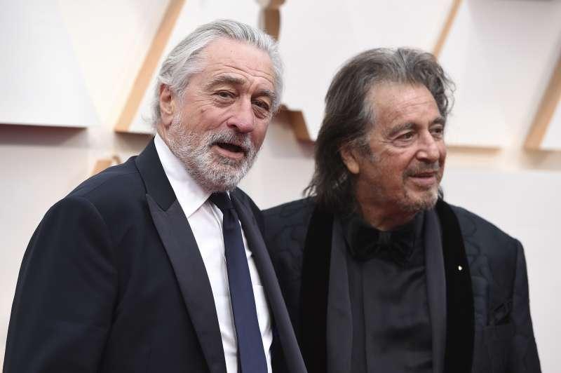 第92屆奧斯卡紅毯,兩大影帝勞勃狄尼洛(Robert De Niro)與艾爾帕西諾(Al Pacino)一同走上紅毯(AP)