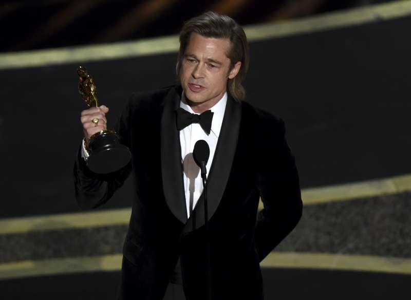 第92屆奧斯卡獎,布萊德彼特(Brad Pitt)奪得最佳男配角獎(AP)