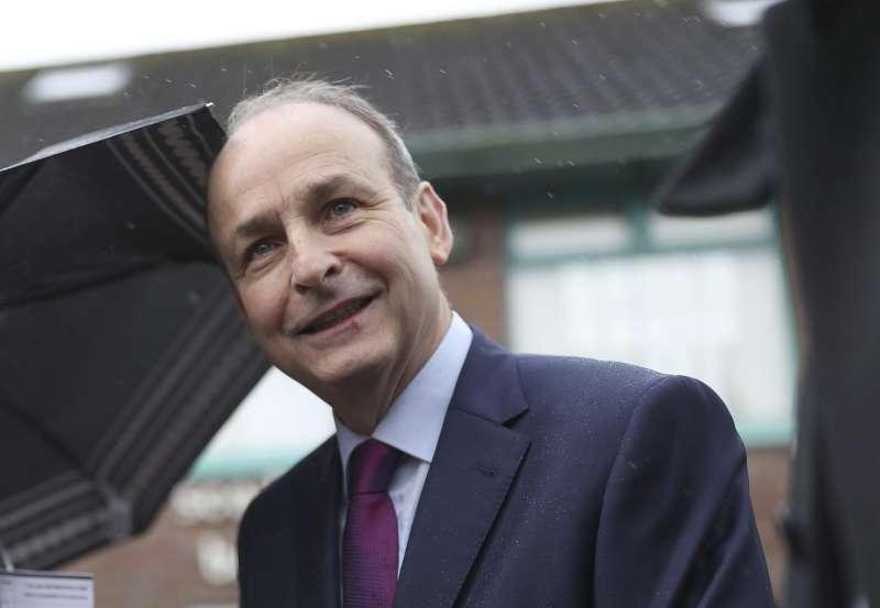 愛爾蘭2月8日舉行大選。圖為有望成為聯合ˊ政府總理的共和黨黨魁馬丁。(AP)