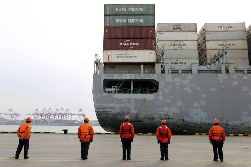 中美貿易戰,美中貿易戰。中國2月6日宣布取消對750億美元的美國產品課徵關稅。(AP)