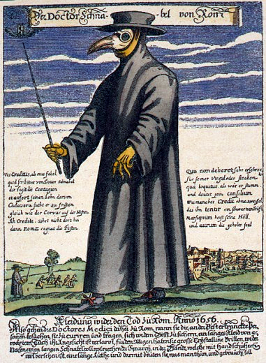 中世紀的鳥嘴醫生。圖/維基百科