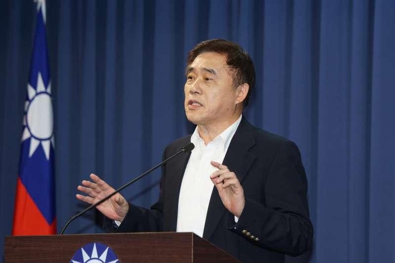 20200212-國民黨12日舉行主席補選政見發表會,郝龍斌會後接受聯訪。(盧逸峰攝)