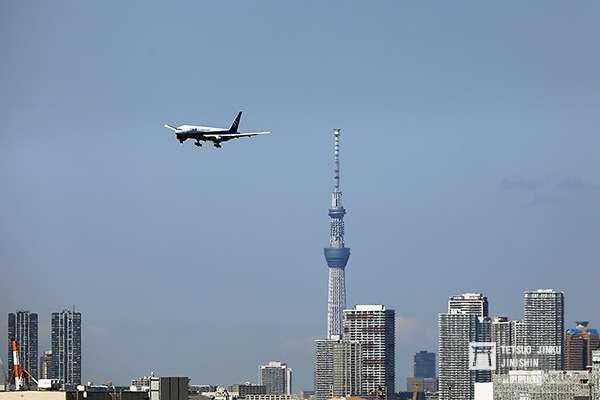 未來航機飛越東京的景象,將成為常態。圖/想想論壇