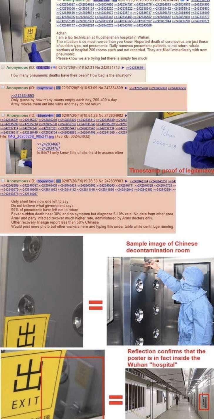 匿名爆料者上傳醫院內部照片。(圖片擷取自網路)