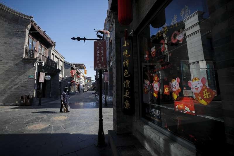 中國新型冠狀病毒肺炎(武漢肺炎)疫情持續延燒,北京許多餐廳關門大吉(AP)