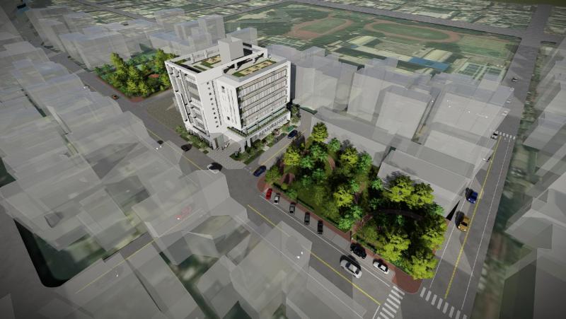 竹縣首座「綜合社會福利館」,基地地點位於竹北市衛生所後方空地。(圖/新竹縣政府提供)