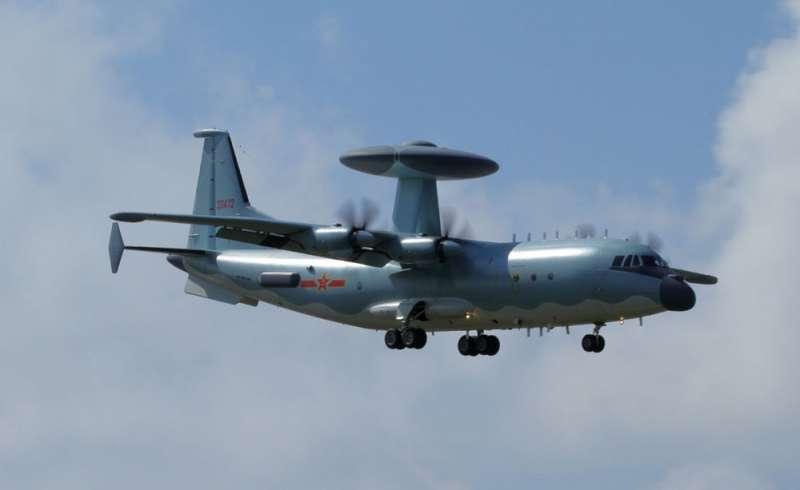 中國出動空警500預警機等戰機繞台,且第三度跨越海峽中線約10分鐘。(翻攝自維基百科)