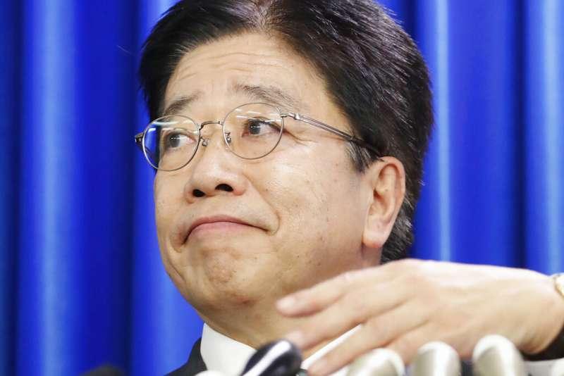 日本厚生勞動大臣加藤勝信。(美聯社)