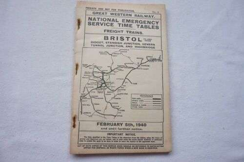 1940年代英國鐵路列車時刻表(圖/ebay.com)