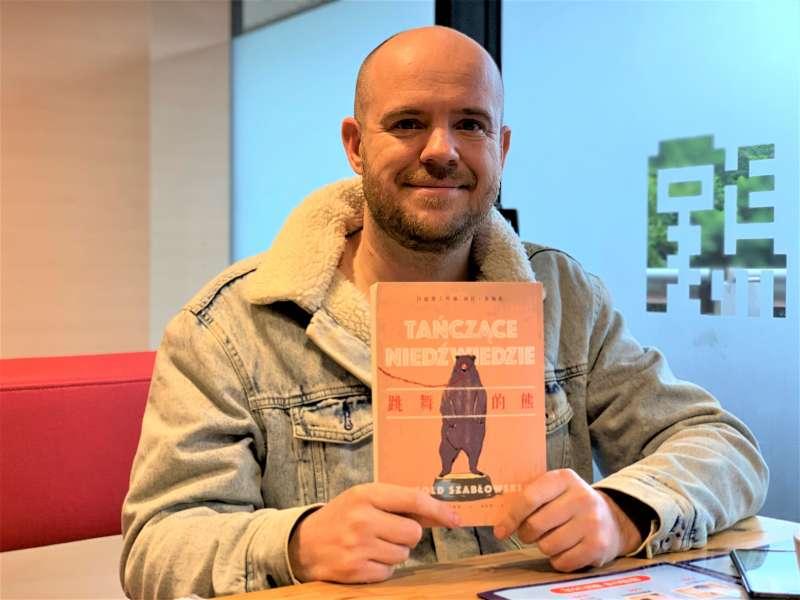 波蘭文學《跳舞的熊》作家沙博爾夫斯基(簡恒宇攝)