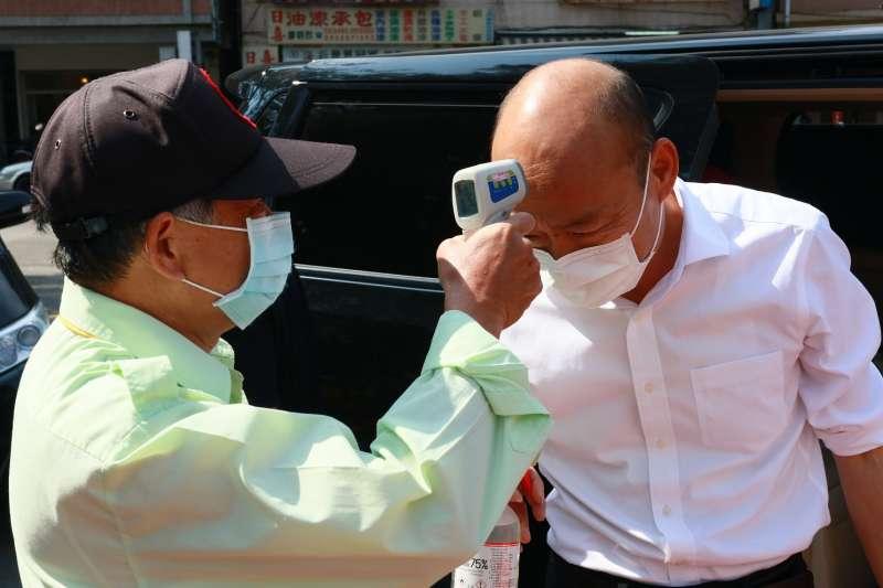 韓國瑜表示,防疫寧願多做一點,也不能有漏網之魚。(圖/徐炳文)