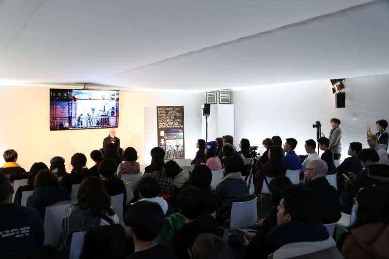 20200225-第70屆柏林影展即將頒獎,導演蔡明亮以新作《日子》入圍主競賽單元。蔡明亮於柏林時間24日傍晚,出席大師講座。(文策院提供)