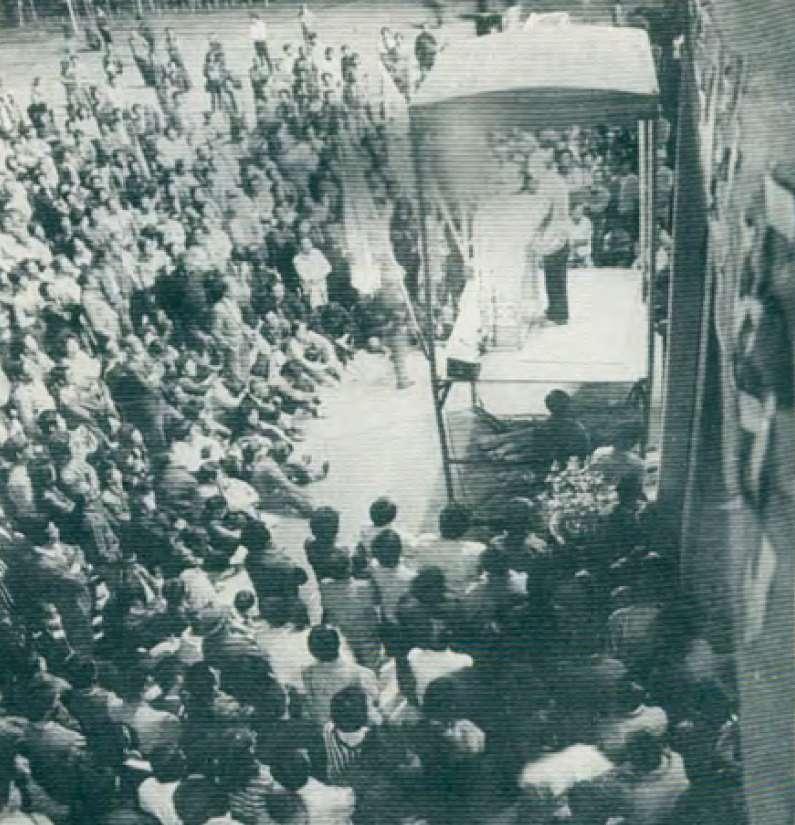 1987年在台北舉辦的二二八說明會。(楊映攝)