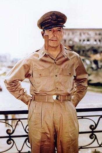 美國軍事將領麥克阿瑟。圖/維基百科