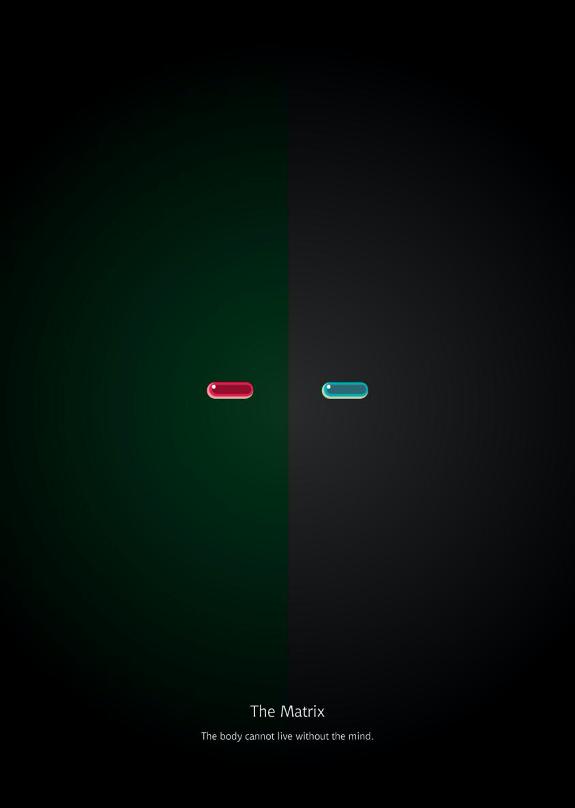 如何在理念(紅藥丸)與物質(藍藥丸)之中選擇?(李品毅提供)