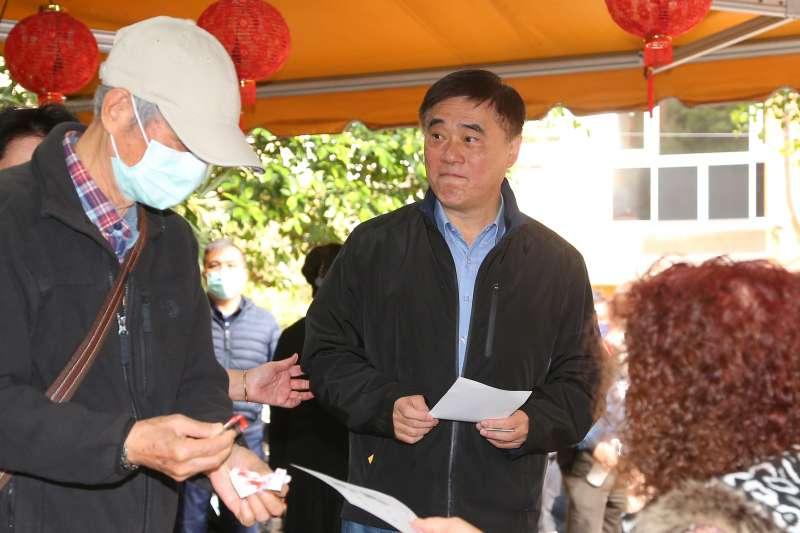 20200307-國民黨主席補選候選人郝龍斌7日至投票所投票。(顏麟宇攝)